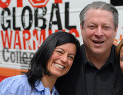 Laurie David and Al Gore (publicity photo)