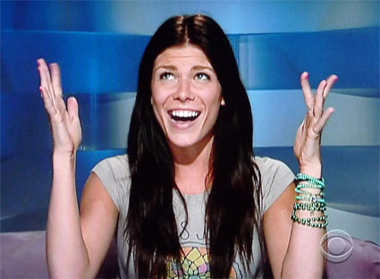 Danielle Donato's face pretty much imitates our reaction to learning Brendon would return to the Big Brother house in season 13 of the show.