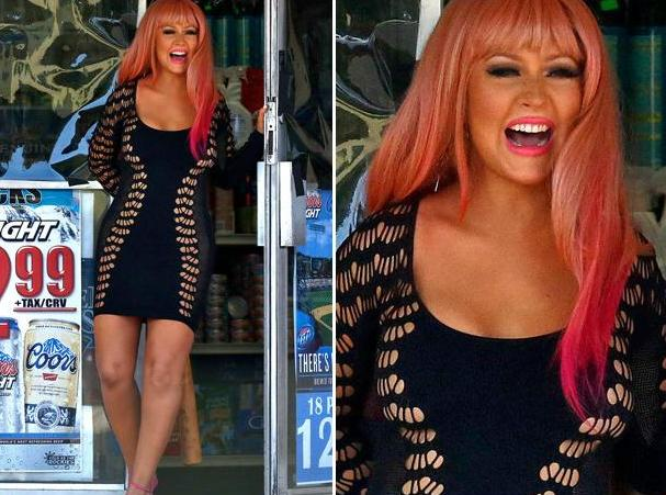 Christina Aguilera New Album: Christina In Pink Wig For New Video