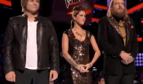 Terry McDermott, Cassadee Pope & Nicholas David on THE VOICE. NBC.