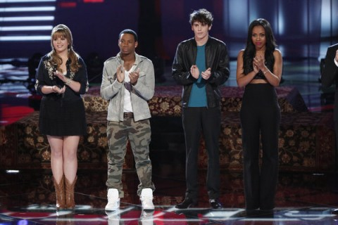 the ten singers that moved on to next week on The Voice 2013 Season 4