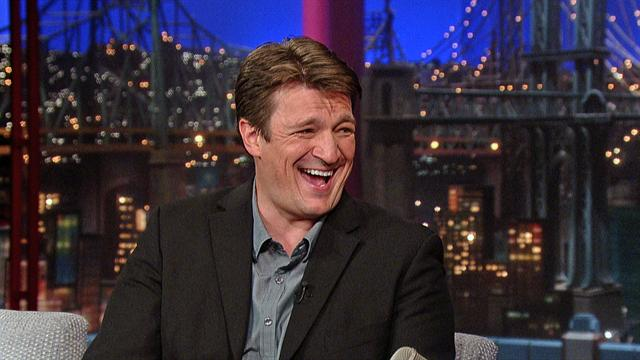 Nathan Fillion On David Letterman Promoting New Movie (VIDEO)