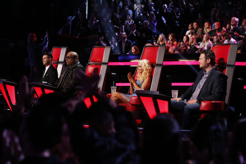 "THE VOICE — ""Live Show"" Episode 519A — Pictured: (l-r) Adam"