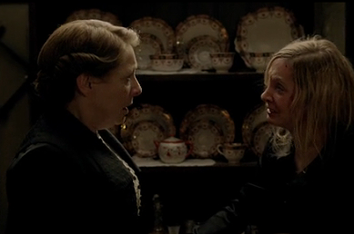 Downton Abbey 4x2 Anna begs Mrs Hughes not to tell