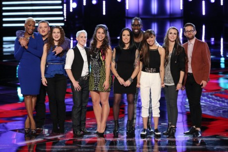 The voice top 10 season 7 who goes home