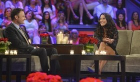 The Bachelorette 2014 The Men Tell All Episode Andi Dorfman with Chris Harrison