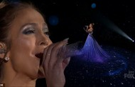 Jennifer Lopez Performs On Idol In Stunning Dress (VIDEO)