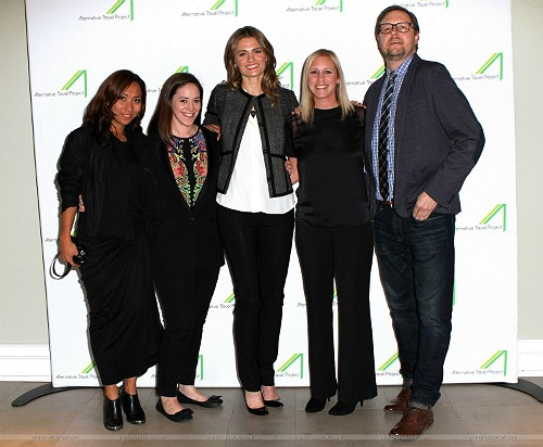 Stana Katic and the ATP organization members. (Via @ALTravelproject)