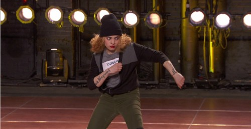 Samantha Reyes auditions for team street in last week's Detroit audition round.