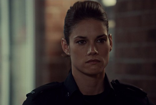 Andy gets a double tap to the heart - with words instead of bullets. Now Andy has even more reasons to bring Santana down!(Rookie blue 6x8 screencap)