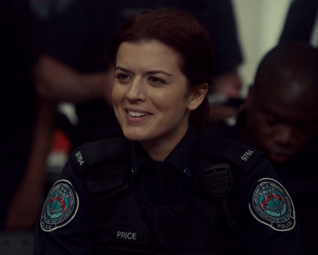 Dov's out-of-the-blue concern about her is puzzling to Chloe. Rookie Blue 6x8 screencap)