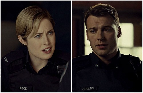 "Gail:  ""Nicholas, I do not do touchy-feely""Nick: ""Come on, just answer the question.""(Rookie Blue 6x8 screencap)"