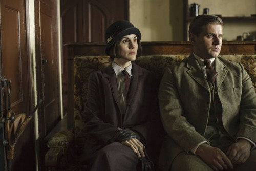 Michelle Dockery as Lady Mary Crawley and Allen Leech as Tom Branson (Photo Credit: Wall Street Journal)