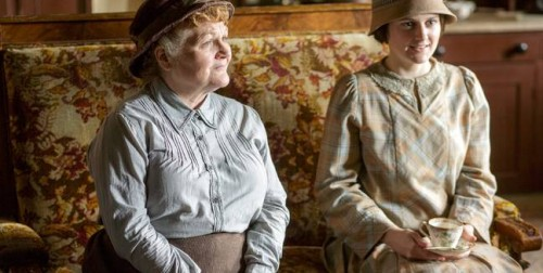 Lesley Nicol as Mrs. Patmore and Sophie McShera as Daisy Mason (Photo Credit: PBS)