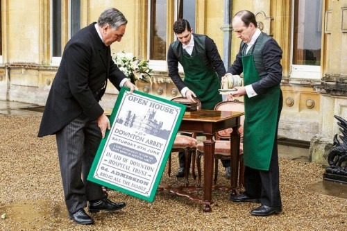 Servants prepare for a public open house at Downton Abbey in episode 6!