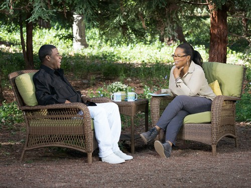 Tracy Morgan and Oprah Winfrey on Super Soul Sunday
