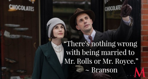 Michelle Dockery and Matthew Goode and Mary and Henry Talbot (Photo Source: PBS)