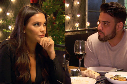 Mike and Jessica had dinner to discuss their relationship status.