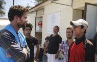 Theo James Visits Refugees Camps in Greece