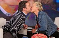 Ellen DeGeneres Kisses Jimmy Fallon While Playing Speak Out (VIDEO)