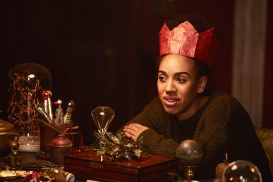 Pearl Mackie as Bill Potts in Doctor Who 10x01