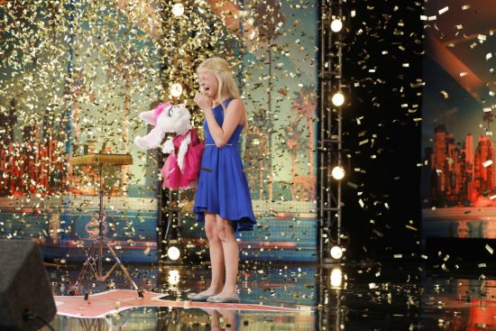 Twelve-year-old ventriloquist earns first golden buzzer on America's