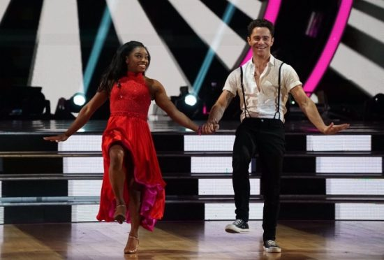 Simone Biles & Sasha Farber Foxtrot Their Way Through 'DWTS' Week 8