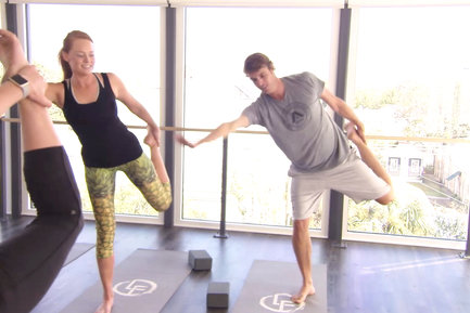 On Southern Charm 2017, Shep and Kathryn reunited at a yoga class.