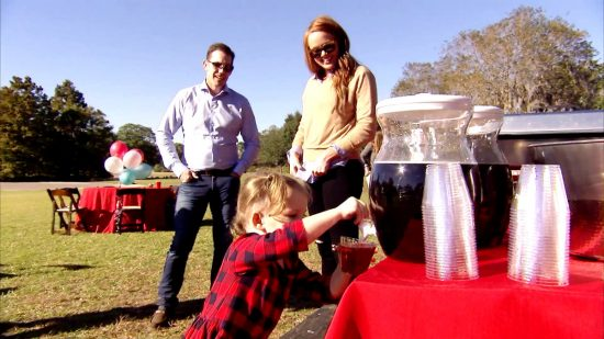 On Southern Charm 2017, Thomas and Kathryn reunite at their son's birthday party.