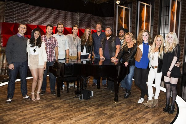 THE VOICE Team Blake Battle Reality Pictured L R Sam Cerniglia Cilla Chan Brandon Chase Brian Pounds Ray Boudreaux Monika Leigh Shelton