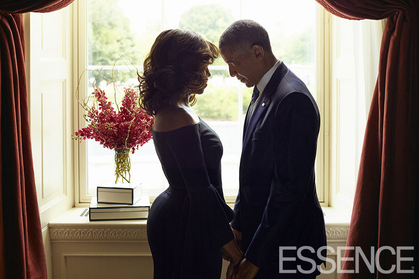 michelle and president obama on cover of essence magazine photo